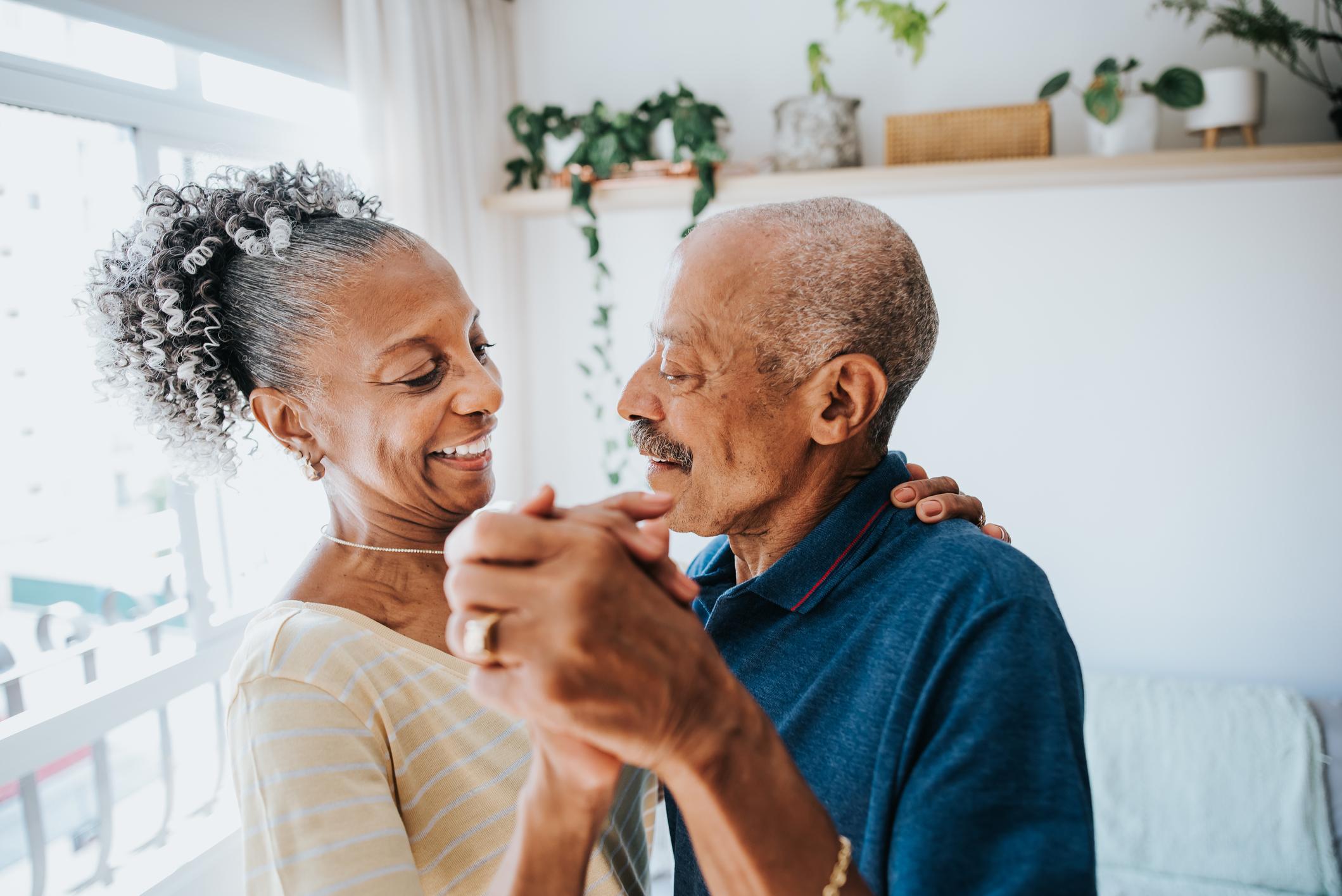 Senior couple dancing together